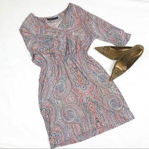 Zara Woman paisley dress (NWOT)